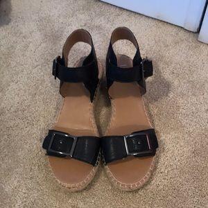 Franco Sarto low wedge sandals.
